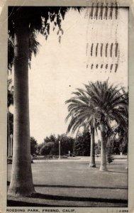 California Fresno Scene In Roeding Park 1944