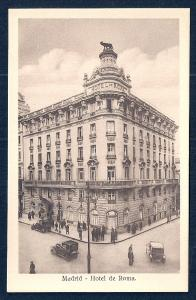 Hotel Roma exterior view Madrid Spain unused c1920's