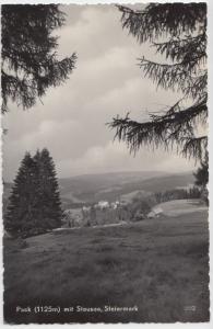 Pack (1125m) mit Stausee, Steiermark, Austria, 1961 used Real Photo Postcard