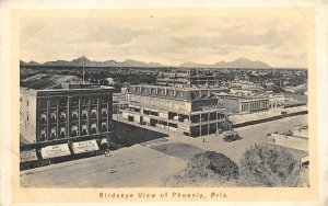 Birdseye View Phoenix Arizona 1910c postcard