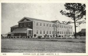 Camp Lejeune, N.C., Hostess Club (1940s) WWII Postcard No. 1910