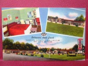 Postcard DE New Castle Delaware Auto Court