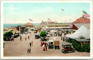 1910s Coronado, California Postcard Amusement Plaza, Tent City Detroit #13189