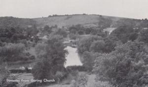 Streatley From Goring Church Real Photo Postcard