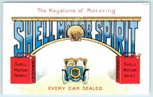 SHELL MOTOR SPIRIT Advertising Postcard Great Graphics-Repro- age unknown