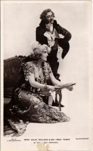 CPA MISS JULIA NEILSON & MR FRED TERRY THEATER STAR (11955)