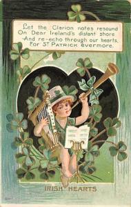 Irish Hearts St. Patrick's Day Postcard