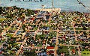 Florida Bradenton Airplane View 1943 Curteich