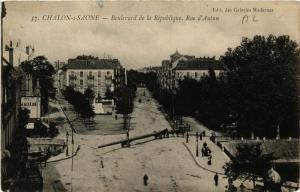 CPA Chalon-sur-Saone - Boulevard de la Republique - Rue d'Autun (637808)