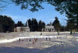 Hill, New Hampshire USA Ski Sking Postcard Post Cards  Hill, New Hampshire USA