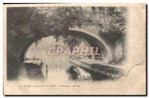 Old Postcard Parc de St Cloud Villeneuve l'Etang