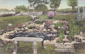 West Virginia Lewisburg The General Lewis Hotel In The Garden Albertype