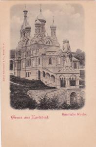 Gruss aus Karlsbad , Austria now Czech Republic , 1890s ; Russische Kirche