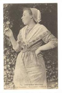 Costumes Bretons, Jeune Fille De Concarneau, Dans Combien D'Annees Le Marriag...