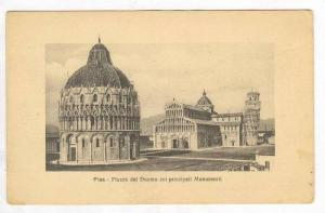 Piazza Duomo,Monumenti, and Tower,Pisa,Italy 1900-10s
