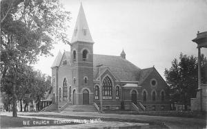Redwood Falls Minnesota~Methodist Episcopal Church~Homes Down Street~1912 RPPC