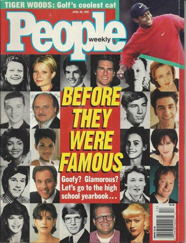 People Weekly Vintage April 28, 1997 Magazine Tiger Woods