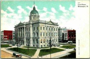 Bloomington, Illinois Postcard McLEAN COUNTY COURT HOUSE Building View c1910s