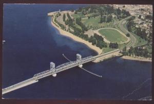 Kelowna Okanagan Lake Bridge British Columbia Aerial View Floating Postcard