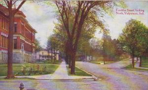 Indiana Valparaiso Franklin Street Looking North 1911