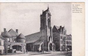 Pennsylvania Scranton St Luke's Church Parish House and Rectory 1910