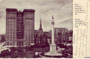 ST. FRANCIS HOTEL UNION SQUARE SAN FRANCISCO, CA 1907