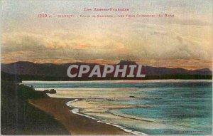 Old Postcard Biarritz Gulf of Gascon The Three Crowns The Haya