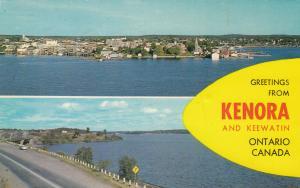 KENORA, Ontario, Canada, PU-1966; Greetings from Kenora and Keewatin