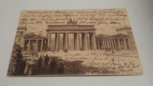 POSTCARD,GERMANY,BERLIN,BRANDENBURGER DOOR $18 OR BEST OFFER
