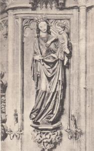 Our Lady Of St Stephan Wien Statue Antique Religious Postcard