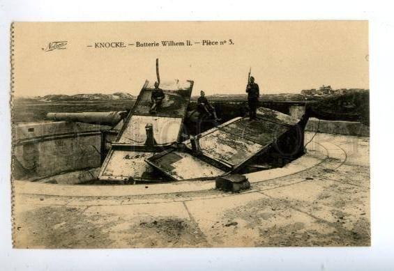 158316 WWI Belgium Knokke KNOCKE Batterie Battery Wilhelm II