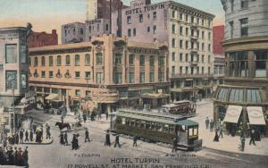 SAN FRANCISCO, California, 1900-1910s; Hotel Turpin, 17 Powell St. at Market St.