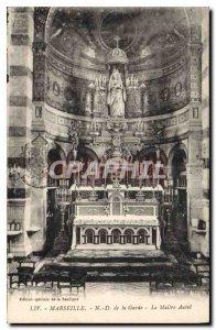 Postcard Old Marseille ND de la Garde Altar Master