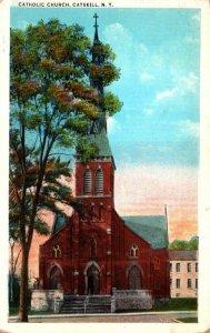 New York Catskill Mountains Catskill Catholic Church
