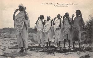 Somalia Somali Musulmans en priere, L'extase, Mohamedans praying