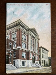 1913 Saint Mary's Convent, Wilkes Barre, PA Plymouth Postmark D22
