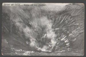 098097 INDONESIA Groet uit Java Krater van den Bromo Vintage