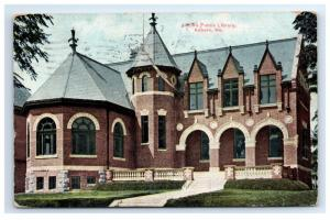 Postcard Public Library, Auburn, Maine ME 1910 F9
