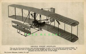 Circa-1909 Pioneer Aviation Postcard: Original Wright Aeroplane in London!