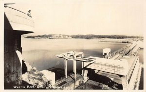 LP48  Watts Bar Dam  Tennessee Postcard RPPC Cline Photo