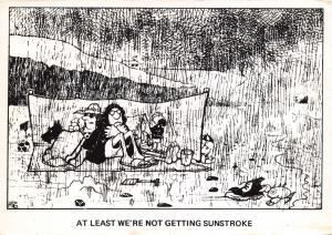 Art Sketch Postcard Comic Joke Funny, At Least We're Not Getting Sunstroke #488