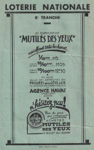 Eyes Of War Mutiles Yeux De Guerre French Exhibit 1940s Handbill
