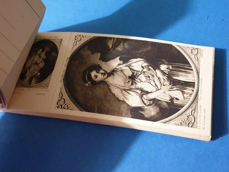 Le Musee du Louvre book 24 Postcards + Souvenir, Paris, France by L'Abeille EA4