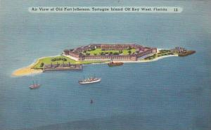 Florida Key West Air View Of Old Fort Jefferson Tortugas Island Off Key West