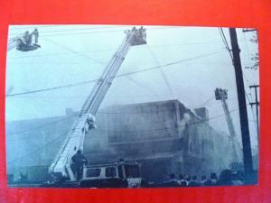 Postcard PA Harrisburg Bakery Burns 1978 Fire Fire Department