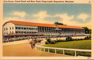 Maryland Hagerstown Fairgrounds Club House Grand Stand and Race Track