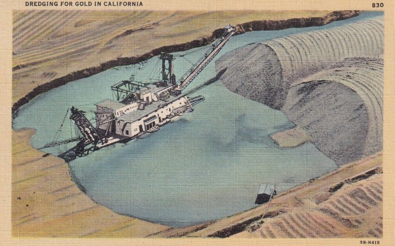 CALIFORNIA, 1930-1940's; Dredging For Gold In California