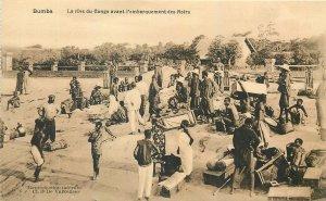Congo Republic Postcard Bumba Congo river avan l'embarquement des Noirs