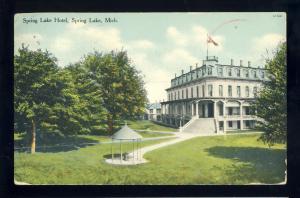 Spring Lake, Michigan/MI Postcard, Spring Lake Hotel, 1909!