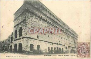 Old Postcard Orange's Roman Theater façade